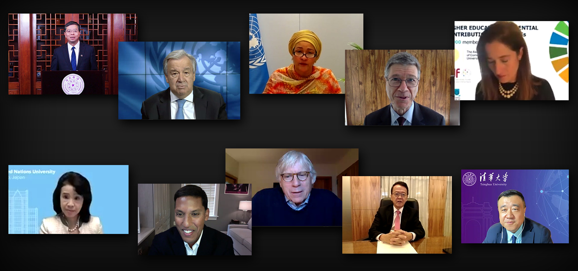 Chancellor Rahmani Participates at a Virtual Meeting on the University Sector Support to UN Secretary-General's Call for a Decade of Action on the SDGs
