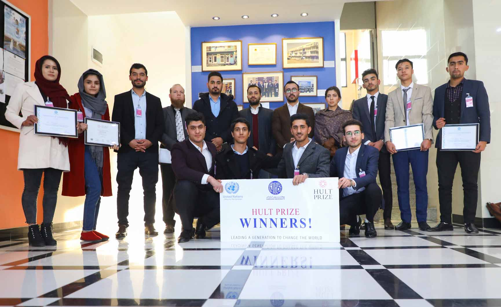Kardan University Hult Prize Winning Team Advances to Regional Summit of 11th Annual Hult Prize in response to the United Nations Empowering the Earth: Bold Business for a Better Planet