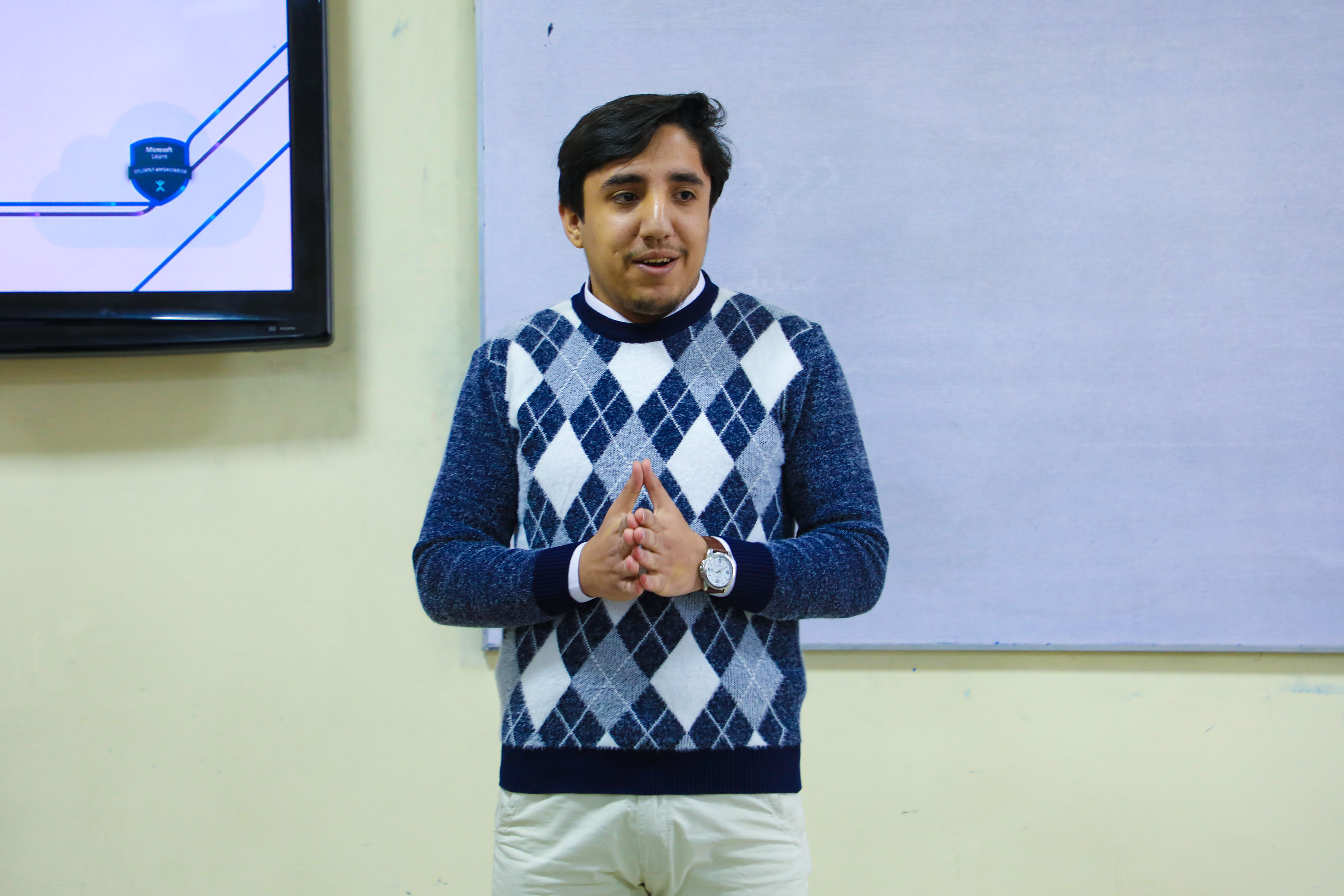 Kardan University's CISCO Lab Organizes a Seminar on Microsoft Learn Student Ambassador Program for BCS Students from Various Universities across Kabul